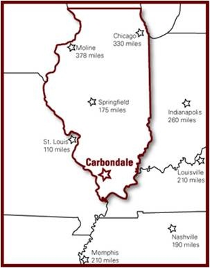 State of Illinois and Carbondale location